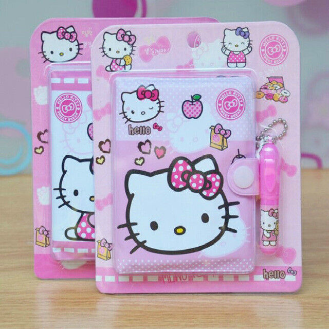 12*14.5cm Cute Hello Kitty Notebook with Ballpoint Pen Notepad Diary Book
