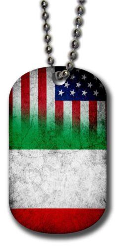 - Many Design Options Aluminum Dog Tag Italian Flag of Italy