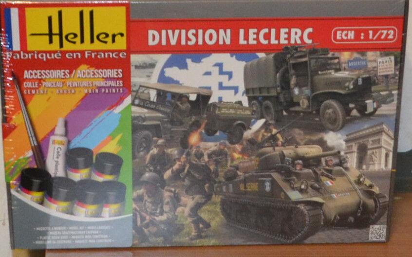 Heller 53015 1 72nd skala divisionen Leclerc 3 AFV -kits figurer Färgpensel