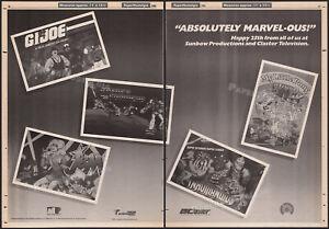 SUNBOW_/_MARVEL Comics__Orig. 1986 3pg Trade AD / poster__GI Joe_Jem_Inhumanoids