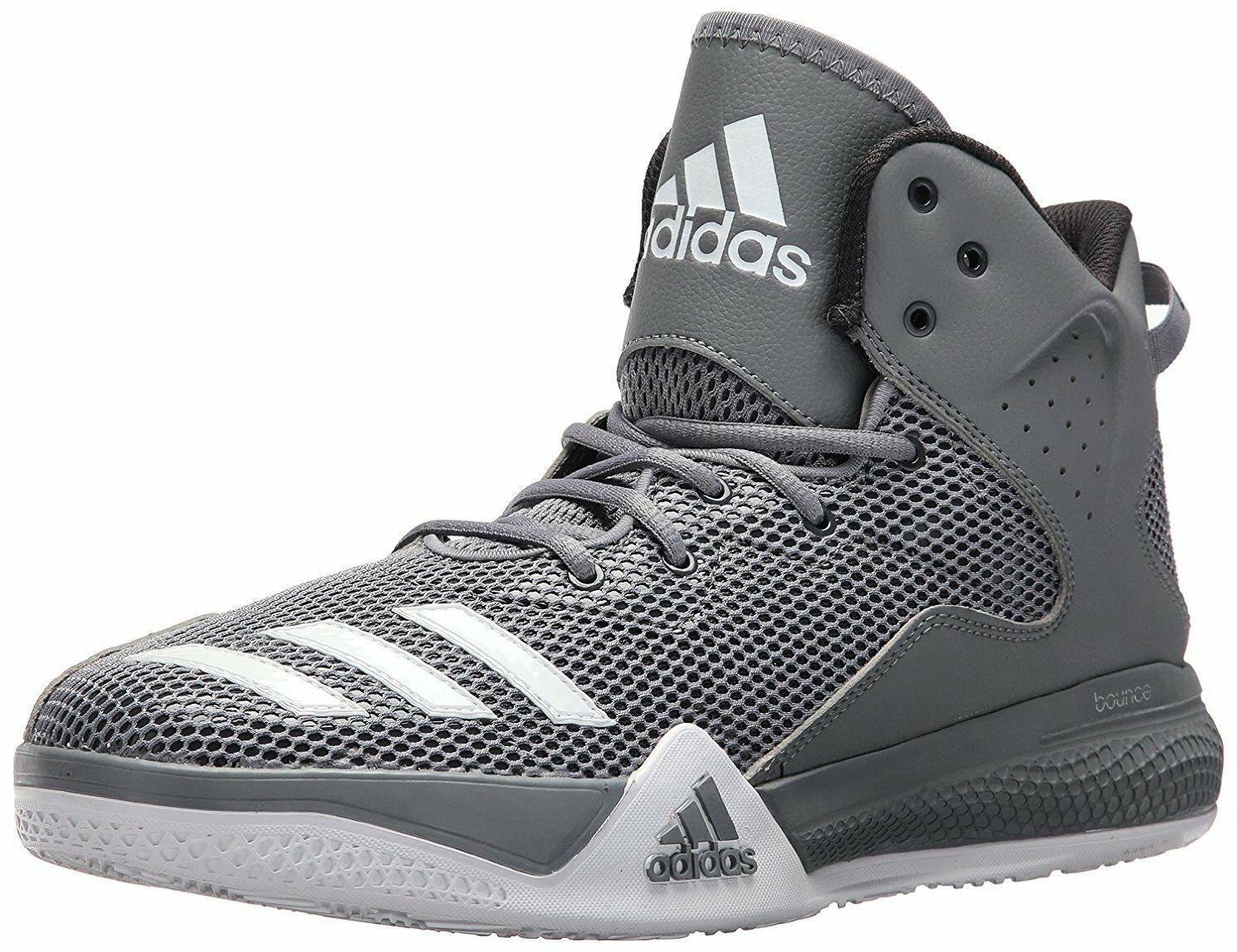 Adidas Aq7754 Performance Men's DT Mid Basketball  Grey White Dgh  Solid Grey