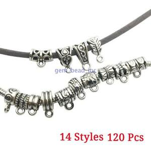 120-Pcs-Antique-Tibetan-Silver-Spacer-Bead-Connectors-Charms-Pendants-DIY-Making