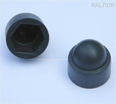 Ehrgeizig 500 Stück Abdeckkappen M10 Anthrazit Ral7016 Für Sw17mm Schutzkappe Hutmutter