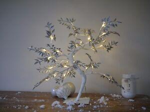 Pre-Illuminate-LIGHT-Up-LED-glitter-albero-di-Natale-Rametto-Natale-Arredamento-Rustico-Chic-D-039