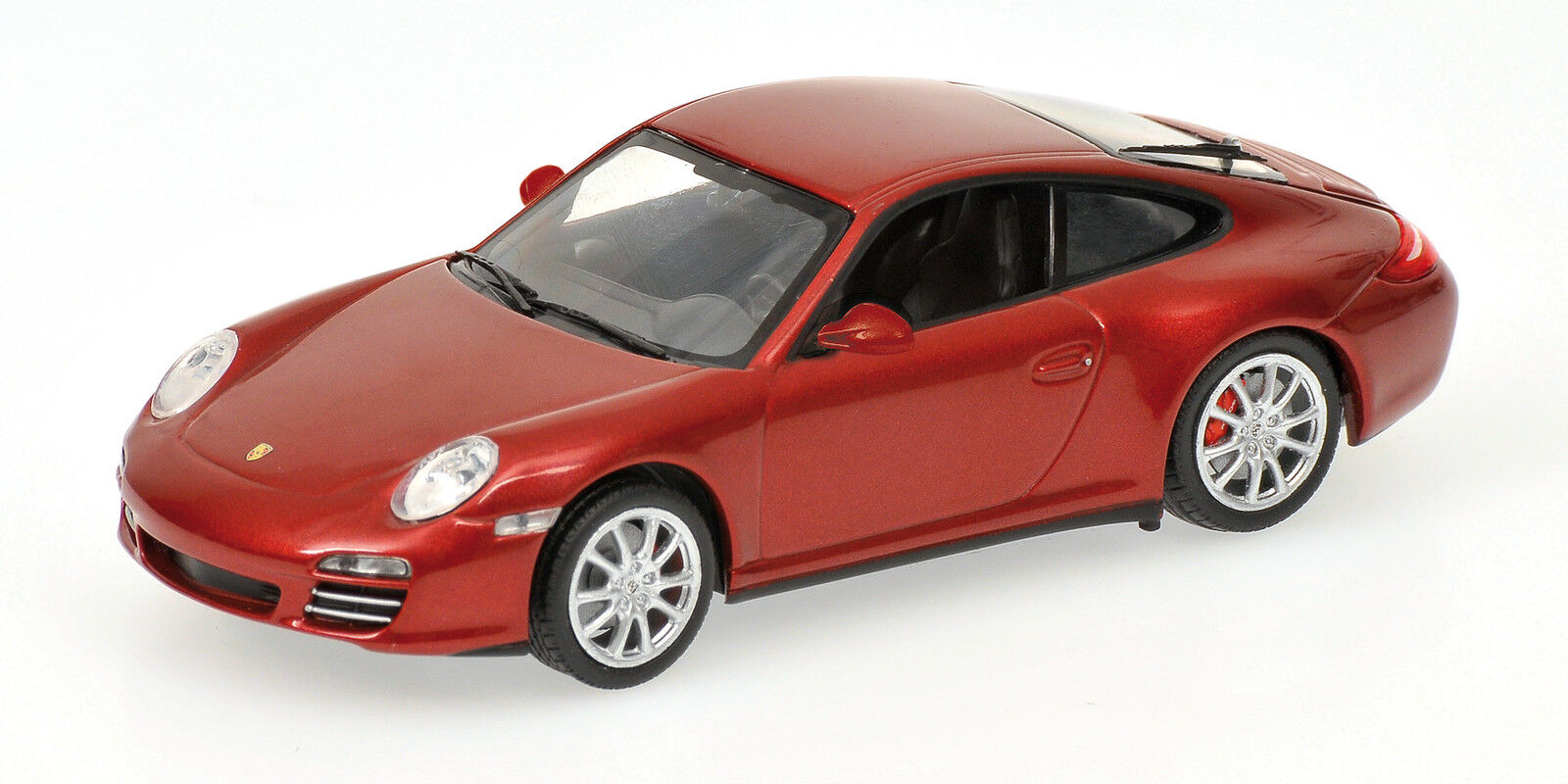 Porsche 911 Carrera 4S 2008 Red Metallic 1 43 Model MINICHAMPS