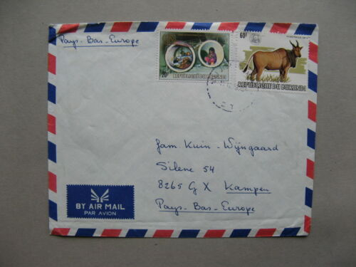 BURUNDI, cover to the Netherlands, ao silver overprinted stamp WWF/WNF Oryx
