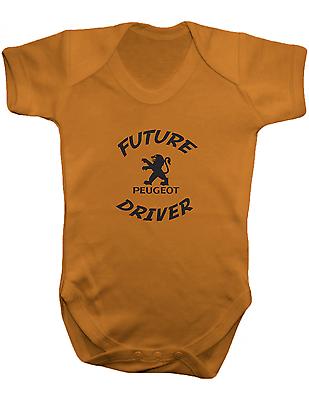 100/% coton FUTURE PEUGEOT CONDUCTEUR-Baby Body couleur bébé-Gilet-Ange
