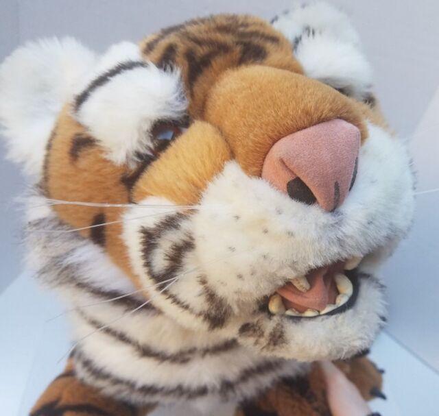 Discovery Channel Big Jumbo Huge Tiger Plush Stuffed Animal Safari Real 30