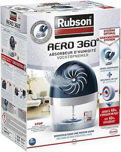 Rubson AERO 360° Déshumidificateur Air Blanc Bleu Absorbeur Humidité Odeur