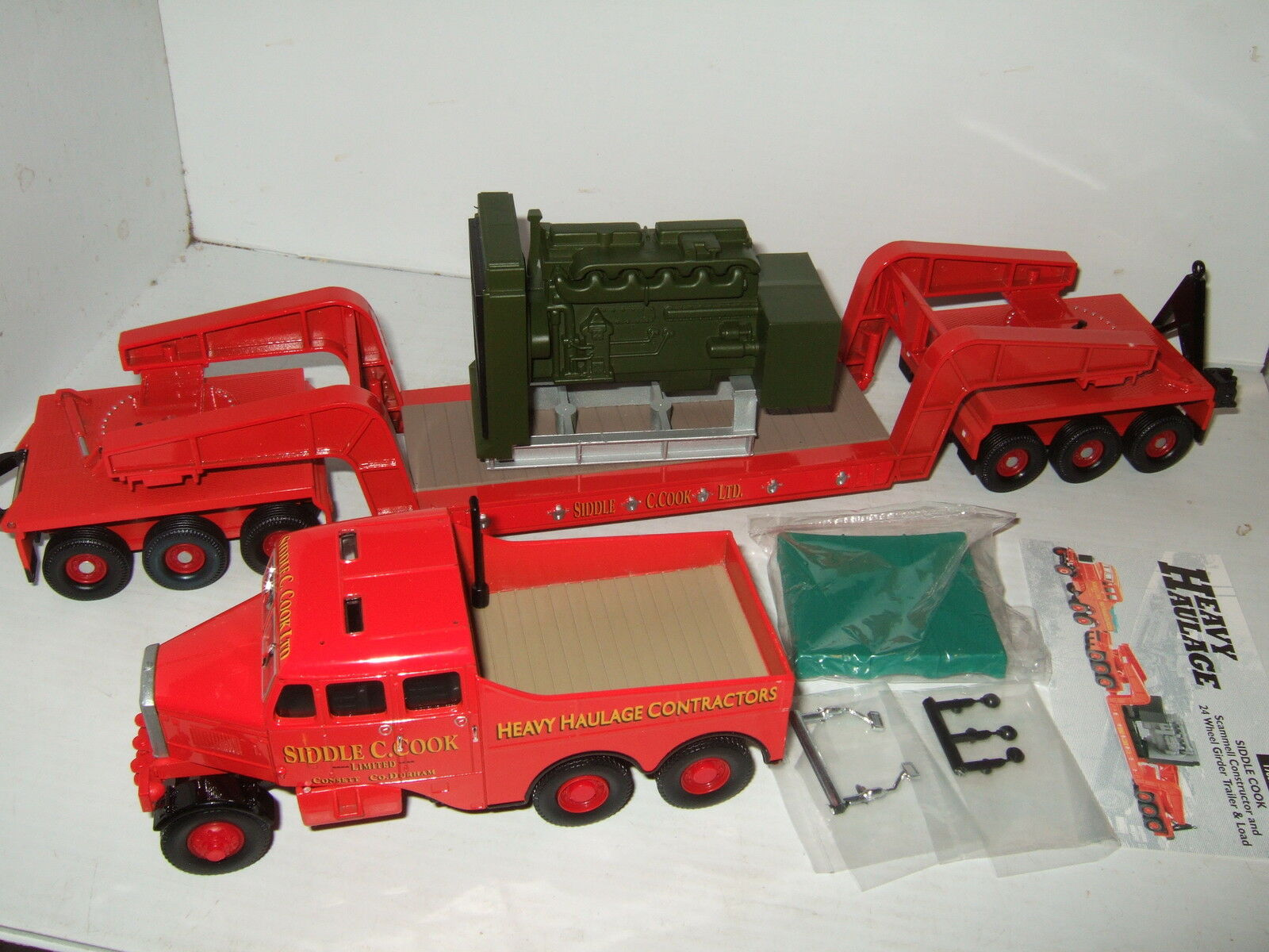 Corgi 17603 Heavy Haul Scammell Constructor + 24 Wheel Girder + Load Siddle Cook