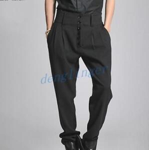 Men S Dress Pants Loose High Waist Trousers Slim Harem Pants Korea