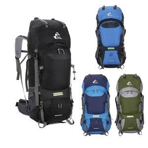 60L Men Internal Frame Packs Backpack Outdoor Trekking Climbing Bag Travel Pack