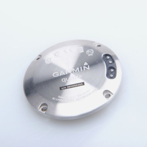 US Stock:silvery Back Case Bottom Cover quatix Part with Battery for Garmin