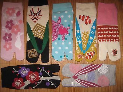 Women's TABI YOGA Flip Flop Sandal Split Toe Ninja Socks Japanese Style AWESOME!