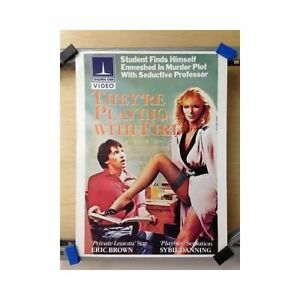 Details About Theyre Playing With Fire Original Home Video Poster Playboy Sybil Danning