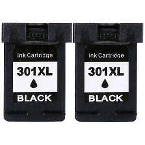 2 Negro Cartuchos HP 301 XL Deskjet 1510 2050 2540 ENVY 4500 Officejet 2620 4636