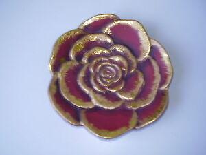 Blumenteller rot-gold - Wernberg, Österreich - Blumenteller rot-gold - Wernberg, Österreich