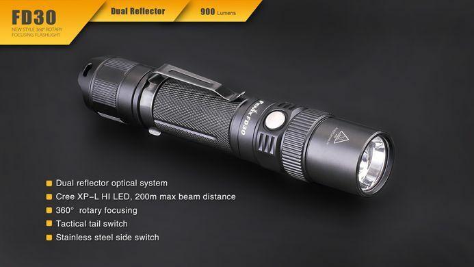 Fenix fd30 CREE XP-L HI DEL Lampe de Poche, Batterie O. Batterie, 900 Lumens, 6 modes