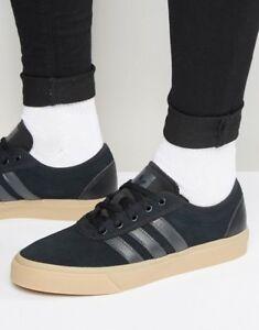 Mens adidas Originals Adi-Ease Suede Trainers Core Black Gum NEW ... 0113491d7