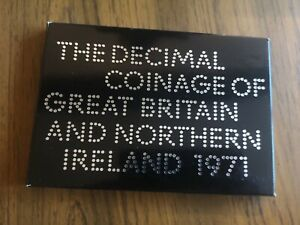 1971 coinage of Great Britain 6 coin proof set