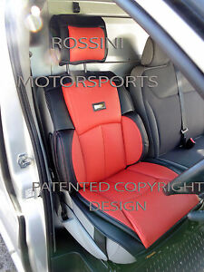 adapt renault trafic van 2015 housse de si ge ys 06 rossini sport rouge noir ebay. Black Bedroom Furniture Sets. Home Design Ideas
