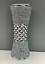 miniature 1 - CRUSHED DIAMOND STUNNING SILVER CRYSTAL SILVER CERAMIC VASE, SPARKLY (25CM)✨