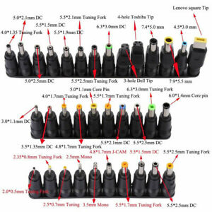 34-PC-Ordinateur-Portable-Notebook-input-DC-Universal-Plug-Set-Jack-Tip-4-AC-Adaptateur-Chargeur