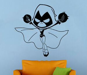 Image Is Loading Teen Titans Wall Decal Raven Vinyl Stickers Superhero