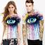Space-Galaxy-Crane-d-039-impression-3D-Femme-Homme-Casual-T-shirt-a-manches-courtes-Graphic-Tee miniature 22