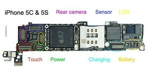iphone 5 logic board apple iphone 5 5c 5s logic board any fpc connector repair 9582