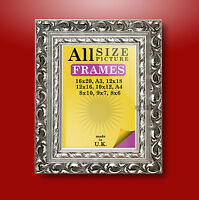 Silver Ornate Antique Style Picture Photo Frames New