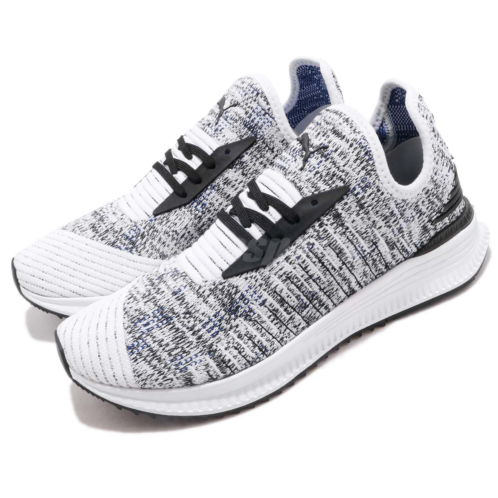 Puma AVID EvoKnit Mosaic White Black Oreo Mens Womens Running shoes 366601-06