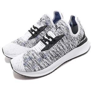 e713f1fc37f675 Puma AVID EvoKnit Mosaic White Black Oreo Mens Womens Running Shoes ...