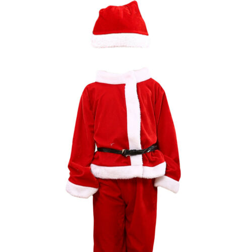 Kids Christmas Cute Santa Claus Christmas Suit Dress Clothes Cosplay Costume Hot