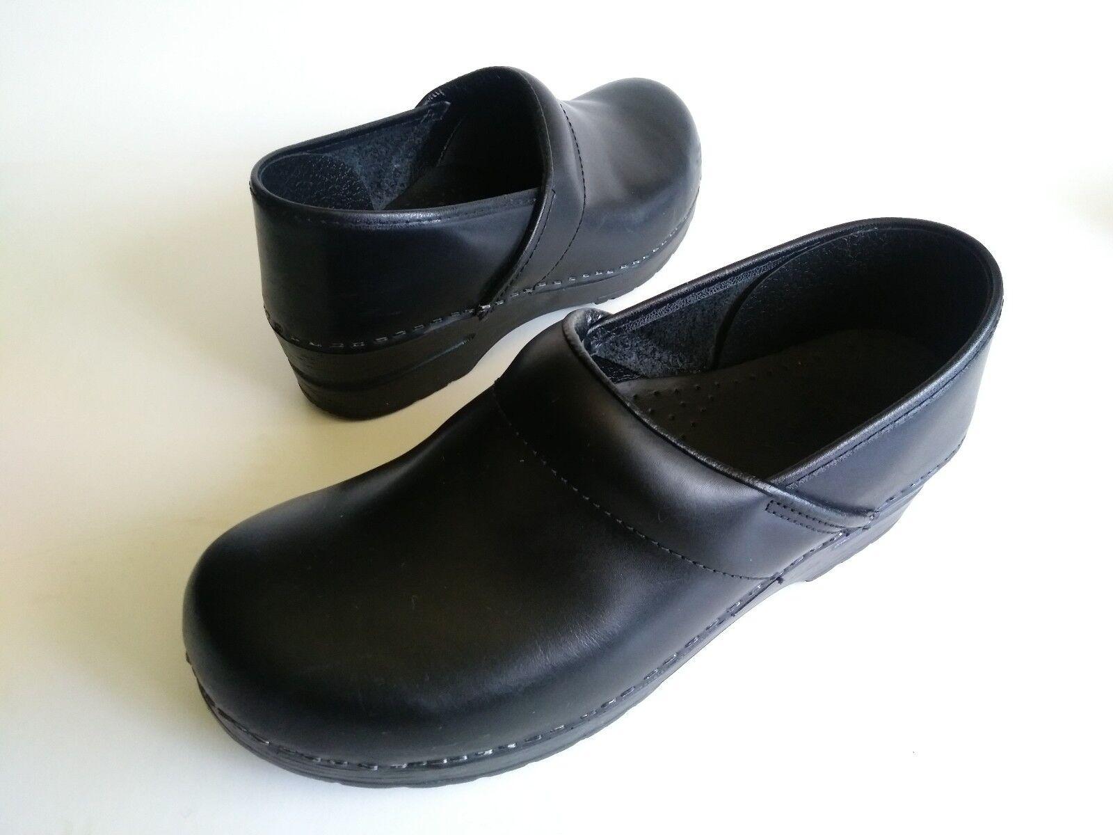 DANSKO PROFESSIONAL Non-Slip Nurse Clogs shoes Black Leather Womens Womens Womens Size 10.5-11 a832c2