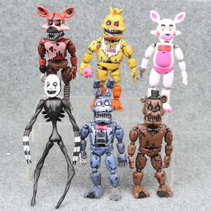 five nights at freddys nightmare 5 set of 6 action figures gift