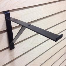 12 Heavy Duty Slatwall Shelf Brackets With Support Epoxy Black Pack Of 10