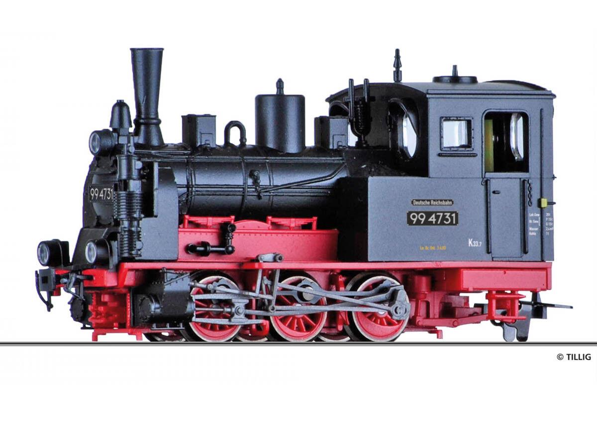 Tillig 02993 máquina de vapor 99 4731 Dr h0e