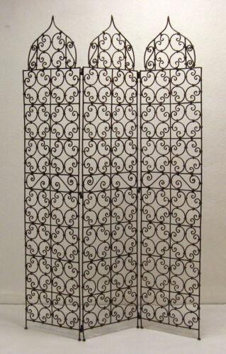 Paravent en fer paravant séparateur de pièce à la main espagnole mur 180 cm