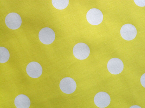 Yellow Spotted Fabric Material POLY COTTON Crafts Quilting Sewing 1M