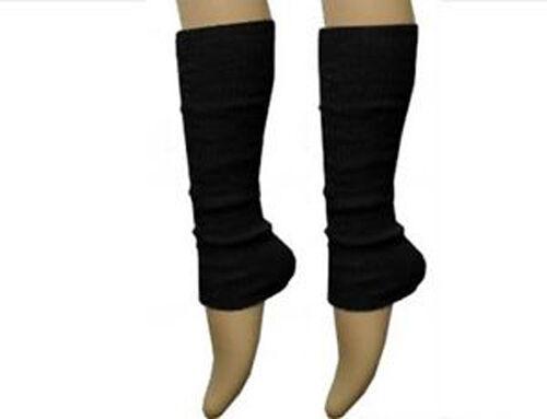Deluxe Luxurious Ladies 80/'s Plain Ribbed Leg Warmers Legwarmers 15 Colour TU TU