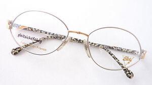 Schmuckbrille Metall Gestell Damen Fassung Bicolor Marke Elce France Oval Size M Vertrieb Von QualitäTssicherung Kleidung & Accessoires