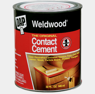 New Dap Weldwood High Strength Rubber The Original Contact Cement 1 Quart 00272 Careful Calculation And Strict Budgeting Glues, Epoxies & Cements