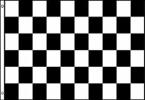 Black and White Checkered Check 8'x5' Flag