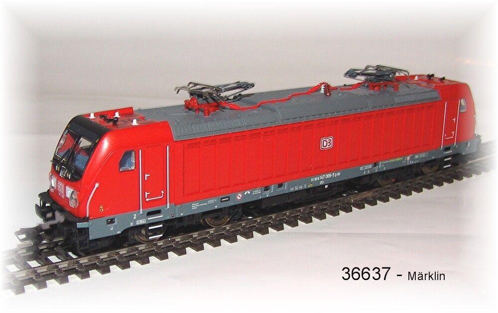 Märklin 36637 E-Lok Br 147 DB Ag Mfx Sound Metallo # Nuovo in Confezione