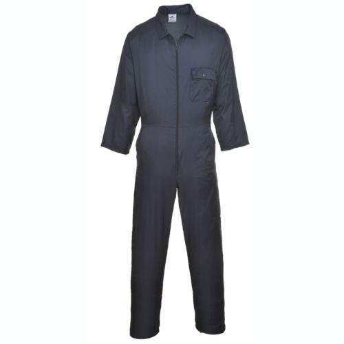 Portwest Nailon Cremallera Trabajo Seguridad Coverall general de la Caldera traje elástico en la cintura C803