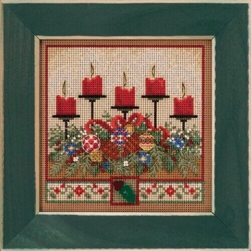 10/% Off Mill Hill Buttons/&Beads Autumn Series X-stitch//Bead Kit Holiday Glow