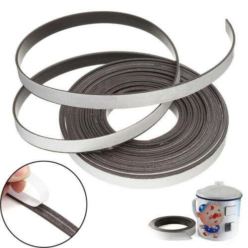 1M//5M Flexible Rubber Self Adhesive Magnet Magnetic Tape Strip Craft 10mmx1.5mm