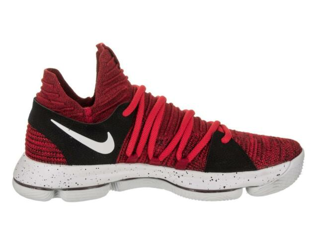 61e0924871a5 Nike Zoom KD 10 Mens Size 10.5 Shoes University Red Pure Platinum ...