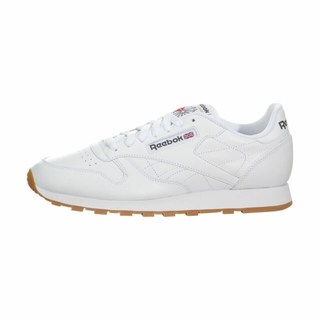 15260cc835 Reebok Mens Classic Leather Low Top Fashion Sneaker White Gum Size 12 M US